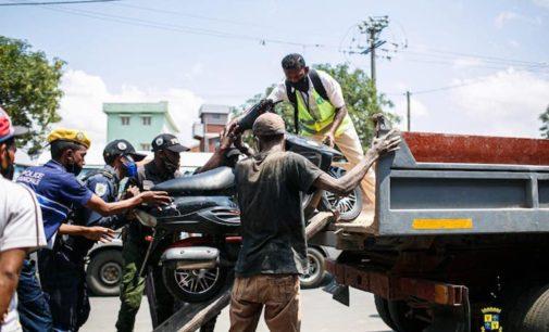 FIFAMOIVOIZANA ETO ANTANANARIVO :  Andrandraina ny haha ara-dalana ny ny taksi môtô izay hamonjena fotoana